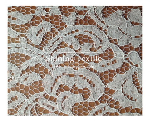 Cotton Knitted Lace Fabric