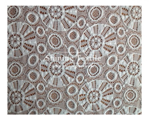 Nylon Spandex Lace Knit Fabric
