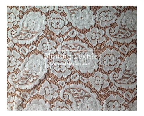White Nylon Lace Fabric